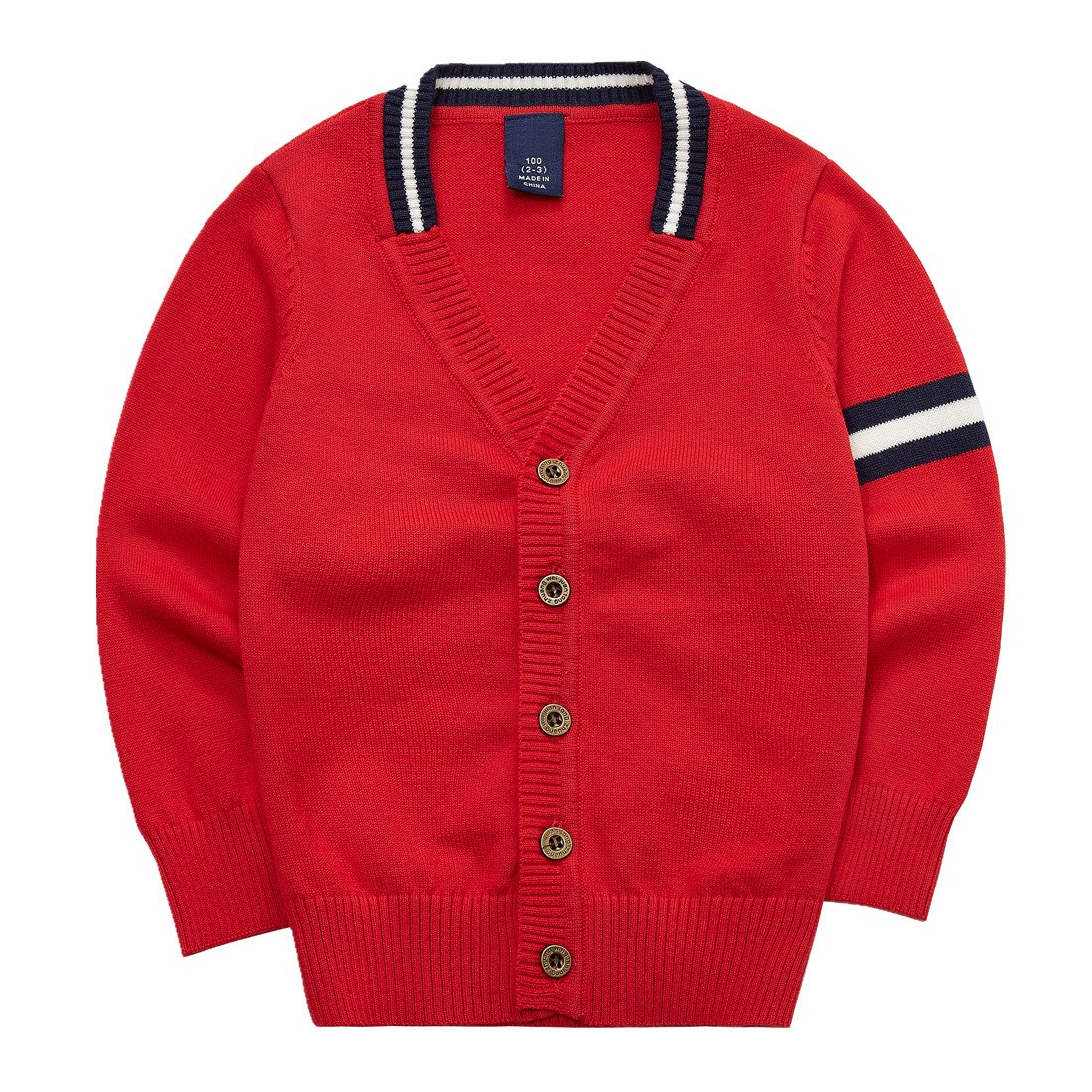 Sooxiwood Little Boys Cardigan Coat V-Neck Striped