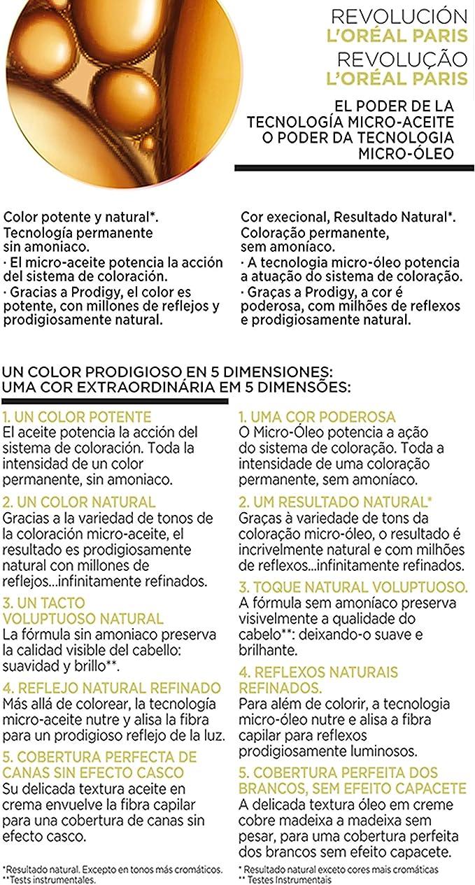 LOreal Paris Prodigy Coloración Sin Amoniaco 8.0 Rubio Duna