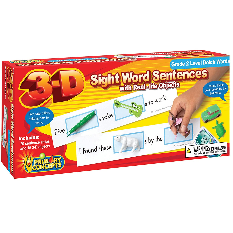 Amazon com: Primary Concepts, Inc 3-D Sight Word Sentences, Grade 2