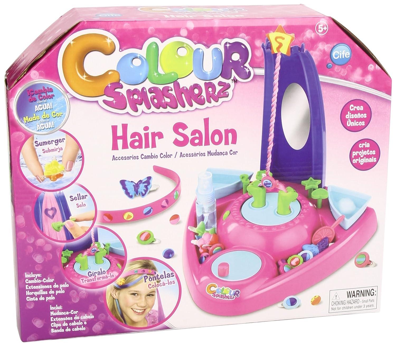Color Splasherz - Hair salon, color azul, rosa y morado (Cife 86552) Accesorios de pelo Hair salon:maquillaje niñas peluqueria