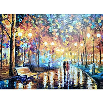 GreceYou Jigsaw Puzzles for Adults 1000 Piece Large Puzzle, Night View Paintings Jigsaw Puzzle Game Toys Gift 15 x 10 x 0.08 inch: Toys & Games