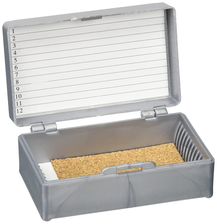 White Globe Scientific 513072W ABS Plastic Cork Lined Slide Storage Box for 12 Slides