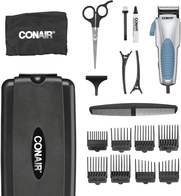 Conair Custom Cut 18-piece Haircut Kit; Home Hair Cutting Kit with No Slip Grip