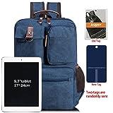 Leaper Vintage Cool Canvas Laptop Backpack Rucksack for College School Travel Daypack Shoulder Bag