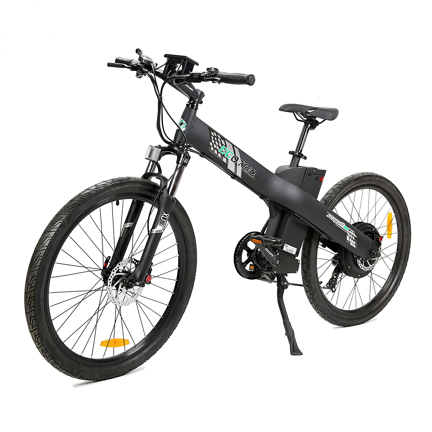 "ECOTRIC 26"" Electric Bike 2018 Update 1000W 48V/12AH Electric City Bicycle  Shimano 7 Speeds LED Display Lithium Battery,90% Pre-Assembled,Max Speed:"