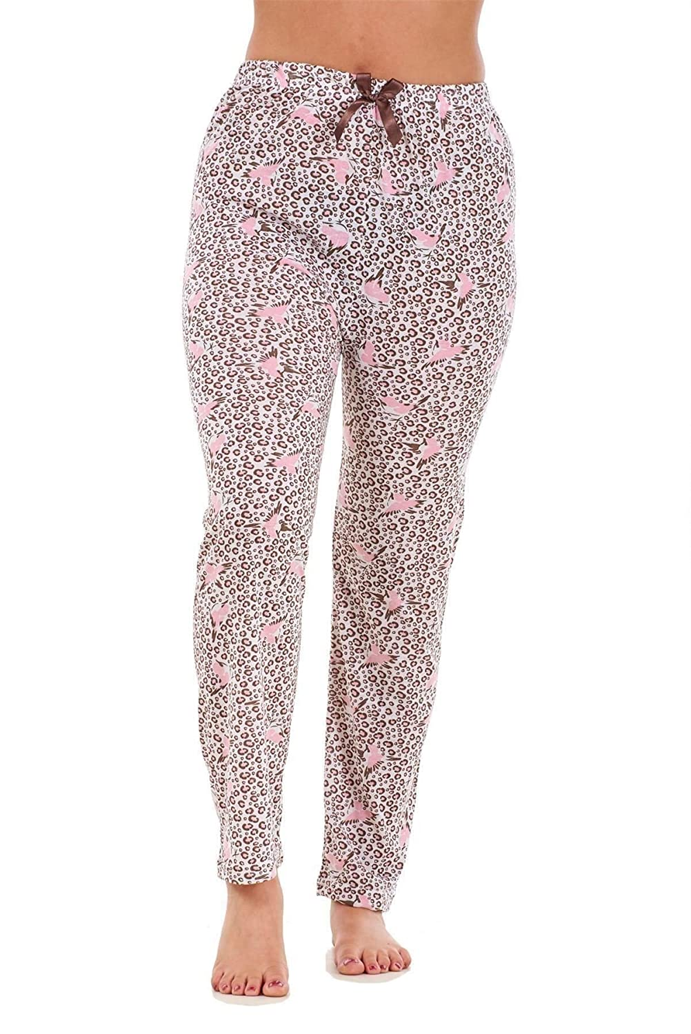 Bay eCom UK Ladies Pyjama Bottoms 100% Cotton Printed Lightweight Soft Lounge Pants M to XXL Does not Apply