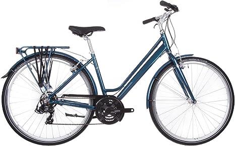 Raleigh Pioneer 1 Bicicleta híbrida de Aluminio Azul: Amazon.es ...