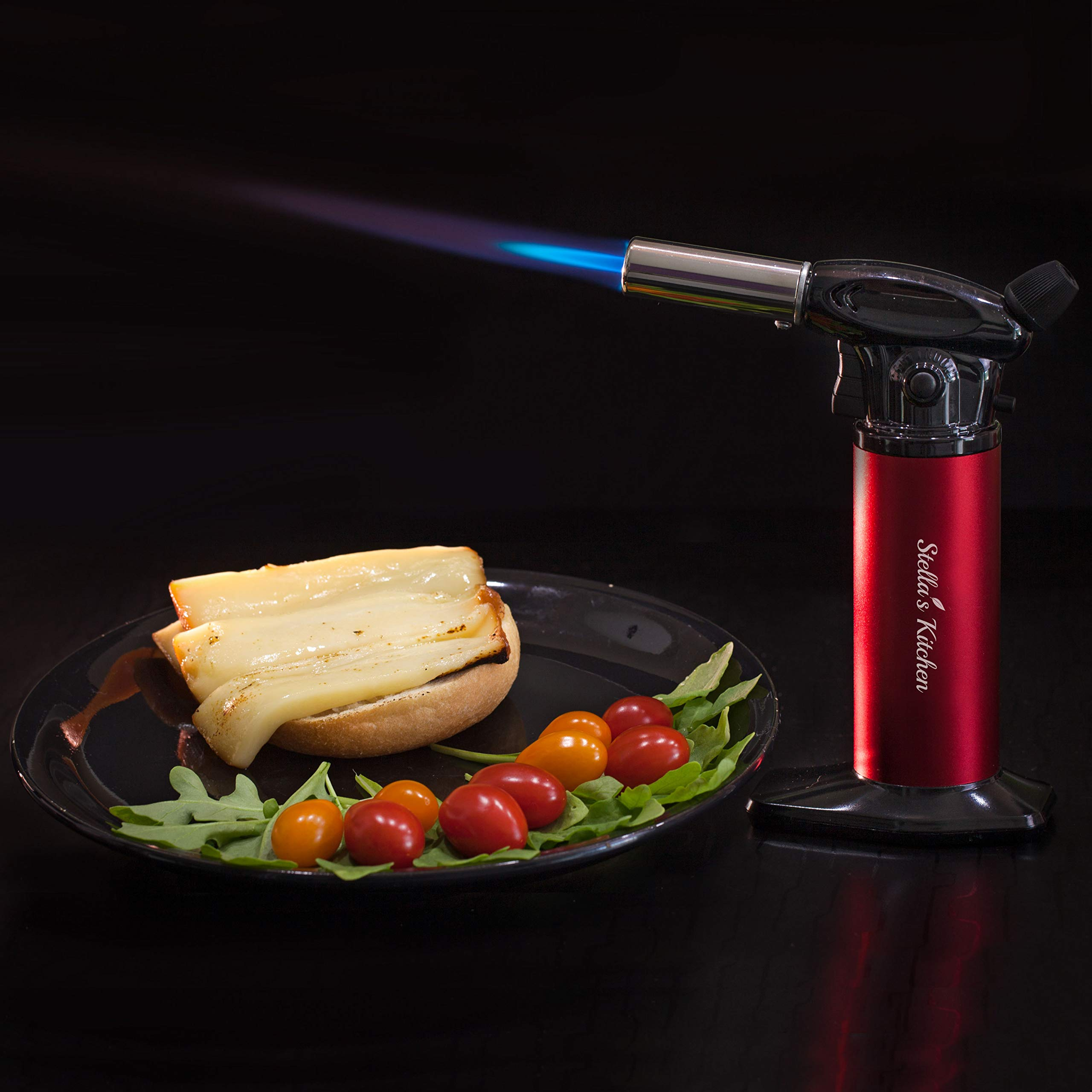 Culinary Torch for Creme Brulee 5 Pack-Culinary Torch-Refillable Butane Torch-Blow Torch-Cooking Torch - Butane Food Torch- Torch for Dabs with Fuel Gauge&Adjustable Flame-Chefs Torch- Butane Torch by Stella's Kitchen (Image #9)