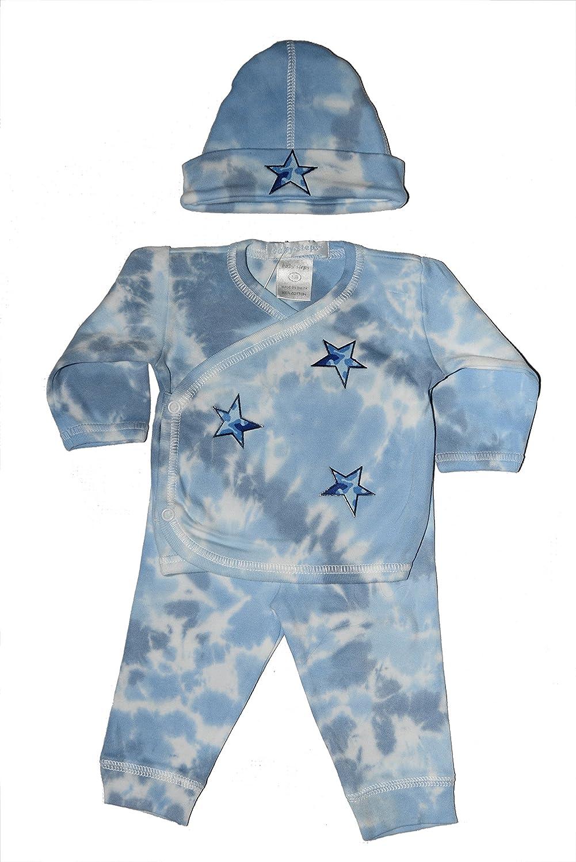 Baby Boy 3 Piece Tie-Dye Take Me Home Blue Camo Stars