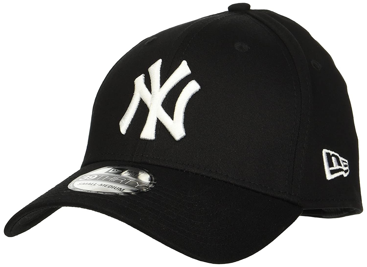 New Era Men s MLB Basic NY Yankees 39Thirty Stretch Back Baseball Cap   Amazon.co.uk  Clothing ec5cdcc67a10