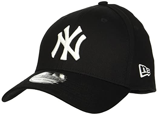 d76198c54a2f7b New Era Men's MLB Basic NY Yankees 39Thirty Stretch Back Baseball Cap,10145638  , Black