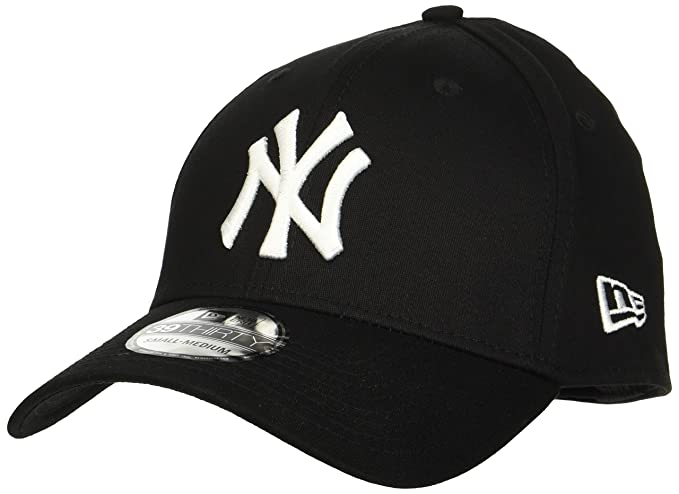 8dff4304 New Era New York Yankees Stretch Fit Cap Black 3930 39thirty Curved Visor S  M