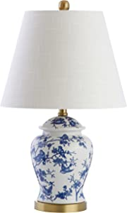 "JONATHAN Y JYL3005A Penelope 22"" Chinoiserie LED Table Lamp Classic,Cottage,Traditional,Transitional for Bedroom, Living Room, Office, College Dorm, Coffee Table, Bookcase, Blue/White"