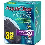 AquaClear 20 Activated Carbon Inserts, Aquarium Filter Replacement Media, 3-Pack, A1380