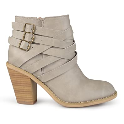 ada817a0ff31 Brinley Co. Womens Ankle Multi Strap Boots Stone