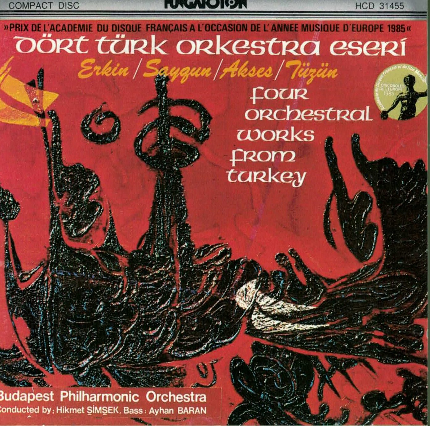 ... Hikmet Simsek, Ayhan Baran, Budapest Philharmonic Orchestra - Turkish Orchestral  Works - Four Orchestral Works from Turkey - Amazon.com Music