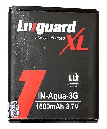 Livguard 1500mAh Battery (For Intex Aqua 3G)