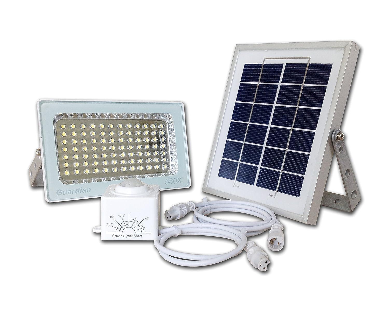 Reflector Solar GUARDIAN 580X de Vigilancia con Sensor Automático de Movimiento PIR y Batería de Litio. 730 Lúmenes a Máxima Luminosidad, ...