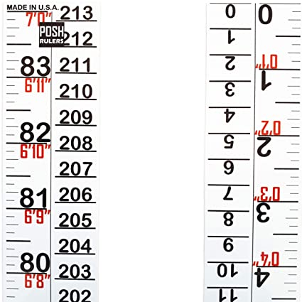 Growth Chart  Height Indicator Tape Ruler  Height Measure  Made in USA