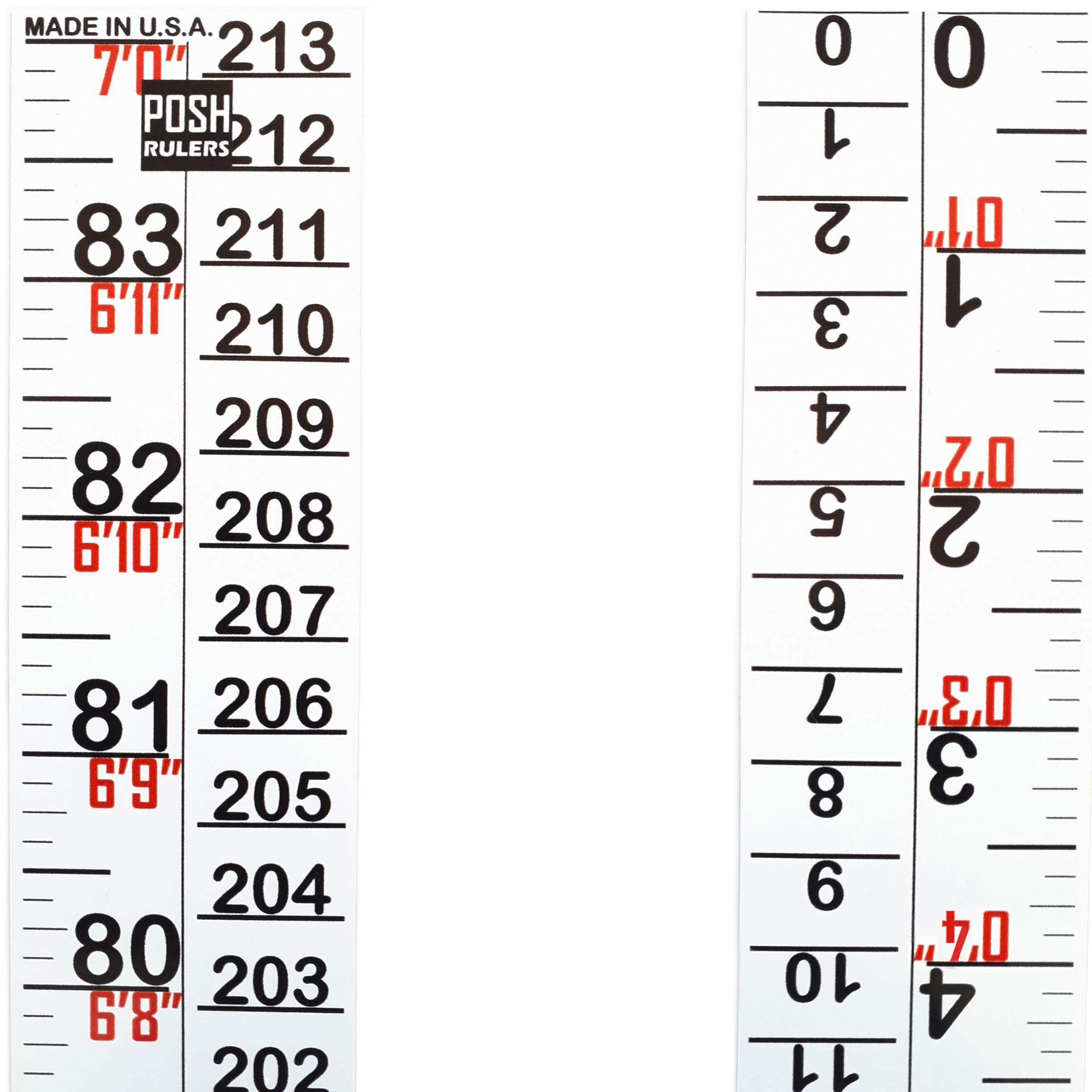 Height Indicator Tape Ruler. Version 2.0. Made in USA. Growth Chart. Height Measure.