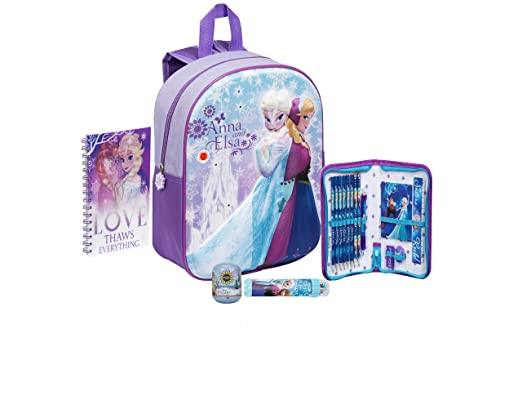 Disney Frozen Anna and Elsa 3D LED Junior School Backpack Toy Bundle for  Children Toddler Kids - 5 Piece  Amazon.co.uk  Clothing 98213ed4fb51a