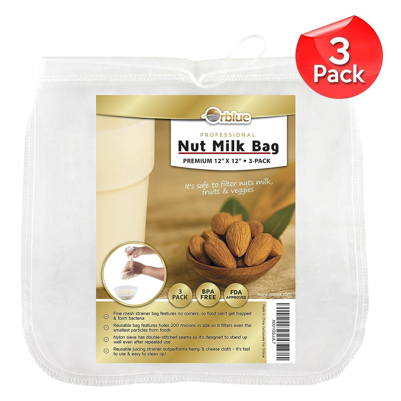 Compra Orblue Nut Milk Bag, bolsa para hacer nuez y vegetales leches, 12