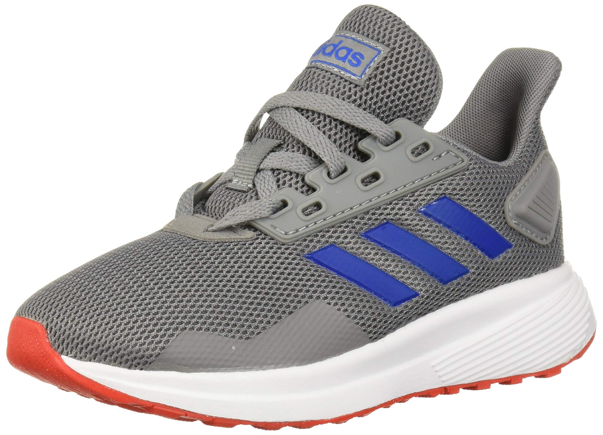 adidas Unisex Duramo 9 Running Shoe, Grey/Blue/Active Red, 11.5K M US Little Kid by adidas
