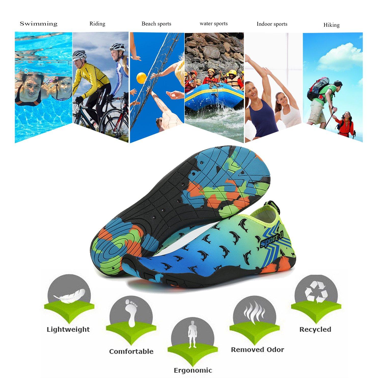 xylxyl Women Water Shoes Men and Women xylxyl Multifunctional Lightweight Flexible Breathable Quick Dry Beach Aqua Skin Socks B073P63PNM 13 B(M)US Women/ 11 D(M)US Men=EU/FR 45|Sea Yellow 73280f