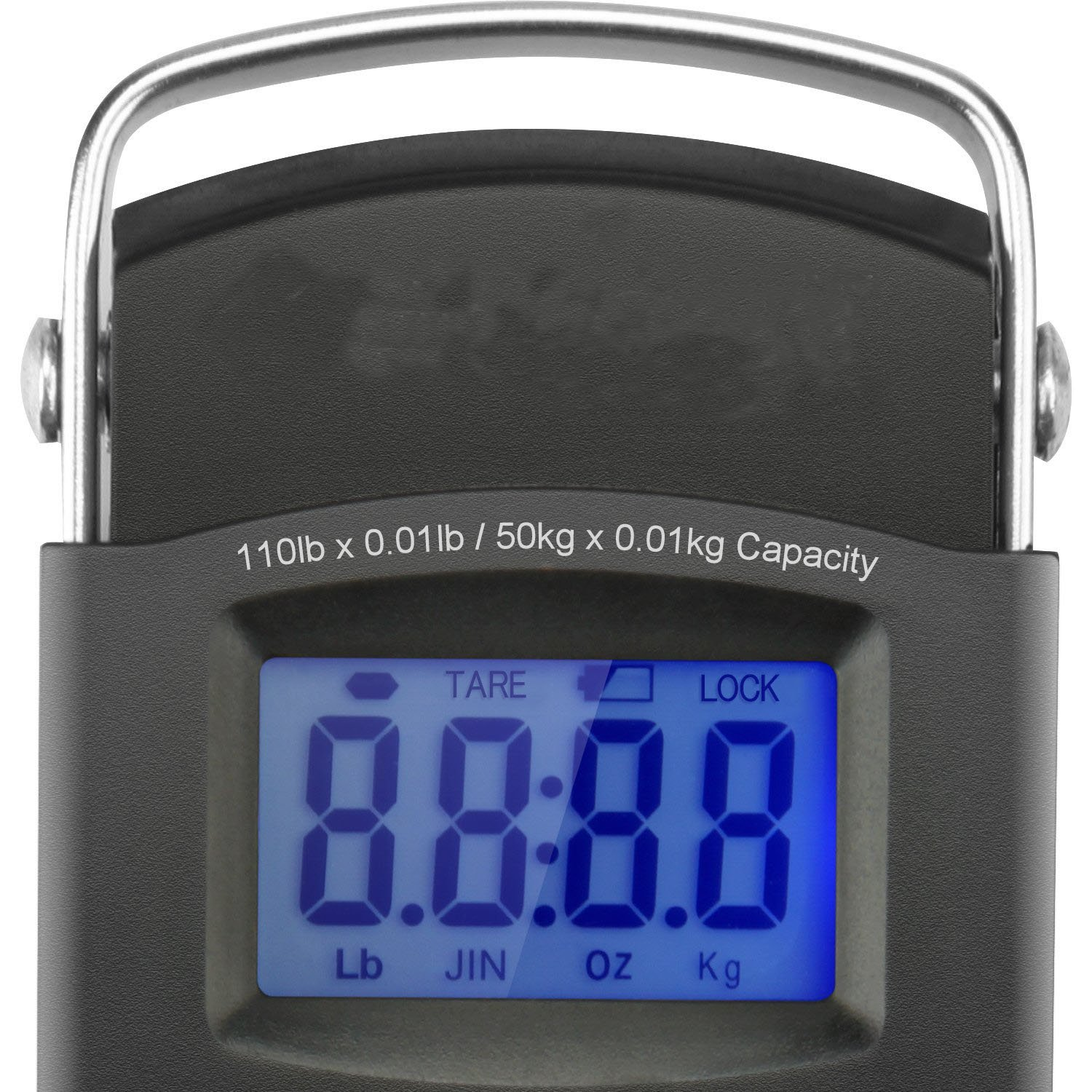 Krismile/® Digital Luggage Scale Portable 10lb//50kg LCD Display Electronic Balance Digital Fishing Postal Hanging Hook Scale 2 AAA Batteries Included