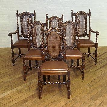 Witchantiques Com Antique Set Of Six Oak Jacobean Style Chairs