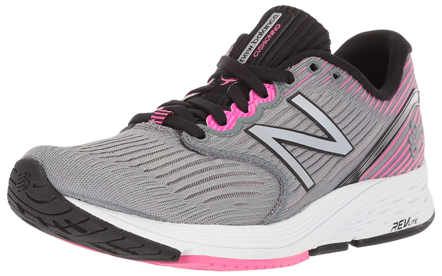 New Balance Women's 890v6 Running Shoe B06XS91LQL 5 B(M) US|Grey/Pink