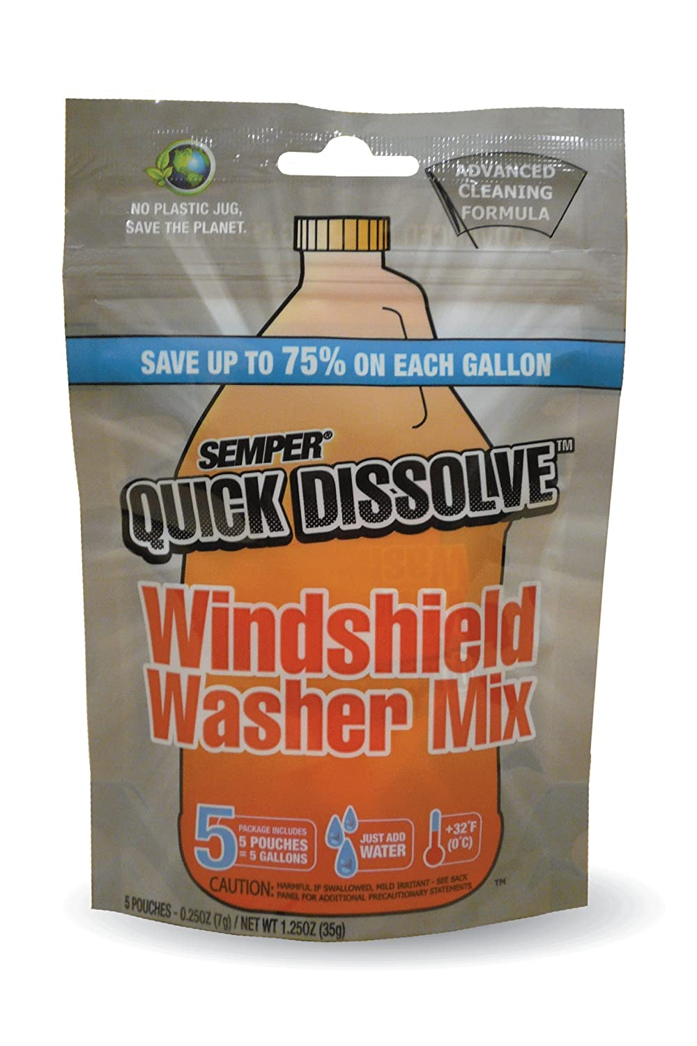 CAF Outdoor Cleaning SEMPER Quick Dissolve Windshield Cleaner Mix - 5 Pack SQD5