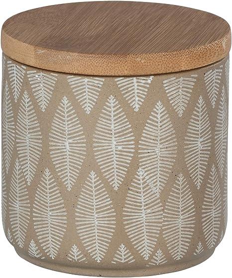 Wenko 23676100 Tupian Beige-Bote de cerámica para Guardar algodón ...