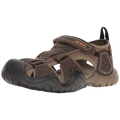 Crocs Men's Swiftwater Leather Fisherman Sandal | Shoes