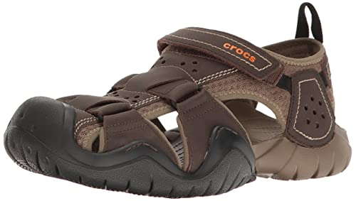 817a6a2505fb Crocs Men s Swiftwater Leather M Fisherman Sandal  Amazon.ca  Shoes ...