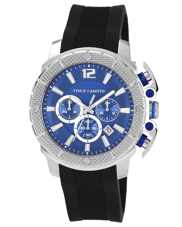 Vince Camuto Herren-Armbanduhr Analog Quarz Resin VC-1019BLSV
