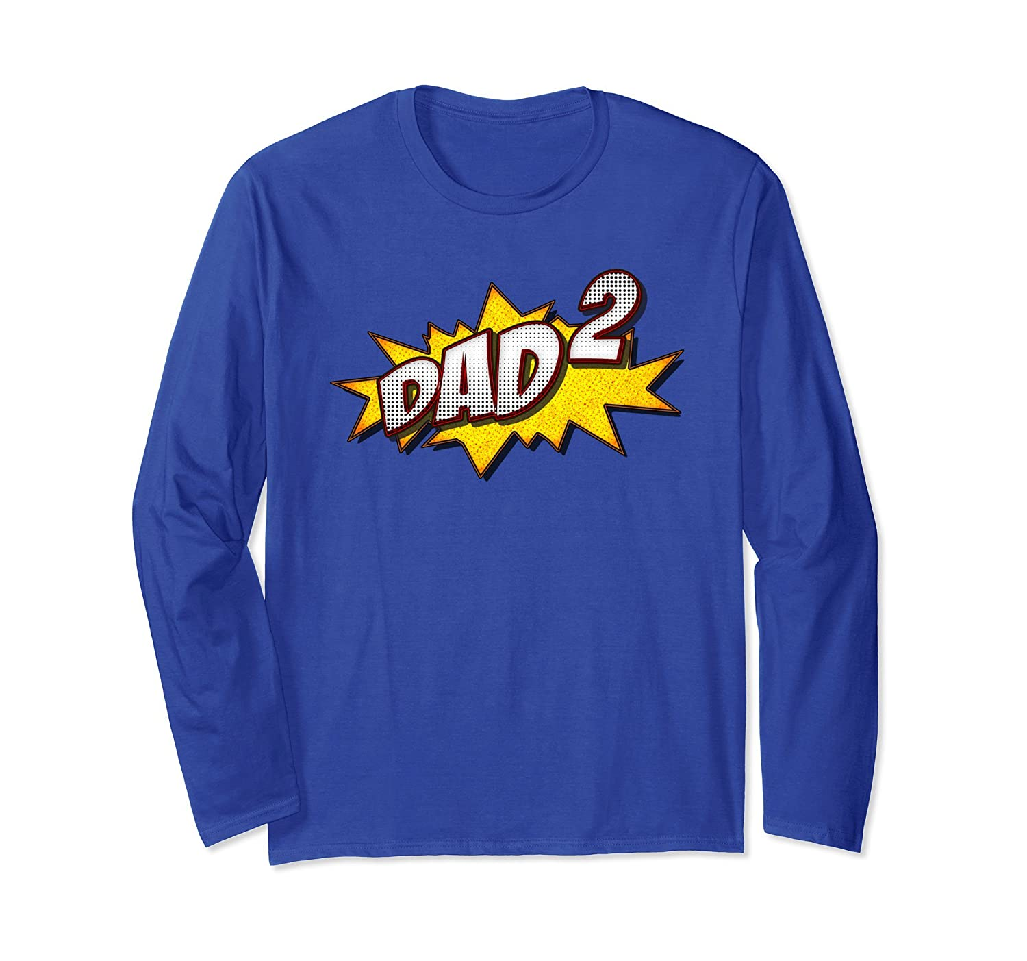 Retro Dad Of 2 Long Sleeve Father's Day Gifts For Twins Dad-AZP
