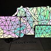 Amazon.com: Cartera con diseño geométrico y luminoso para ...