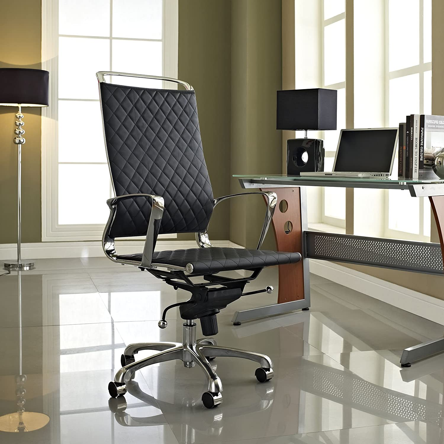 Amazon Modway Vibe Modern Leather Highback fice Chair