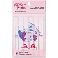 """Mabel's Labels Write Away Iron On Peel & Stick Clothing Labels 24 Pack, 2"""" x 0.4"""", Washer and Dryer Safe, Pastel Colours…"""