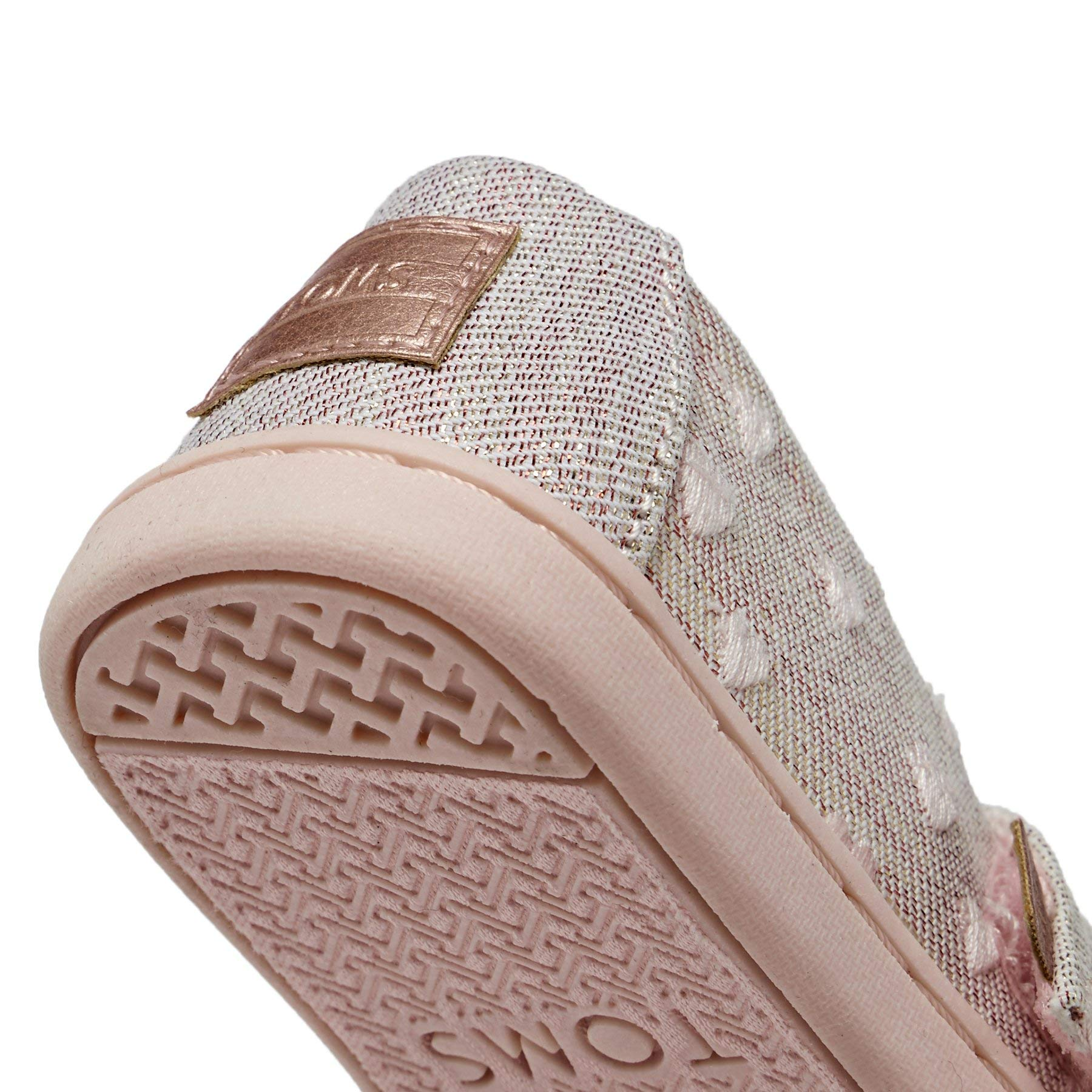TOMS Kids Baby Girl's Alpargata (Toddler/Little Kid) Rose Cloud Heartsy Twill Glimmer Embroidery 11 M US Little Kid by TOMS Kids (Image #8)
