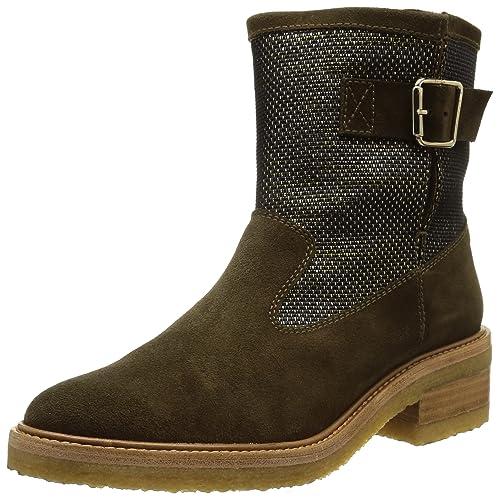 CASTAÑER KENNEDIA-Suede - Botines para Mujer, Color Military, Talla 38: Amazon.es: Zapatos y complementos