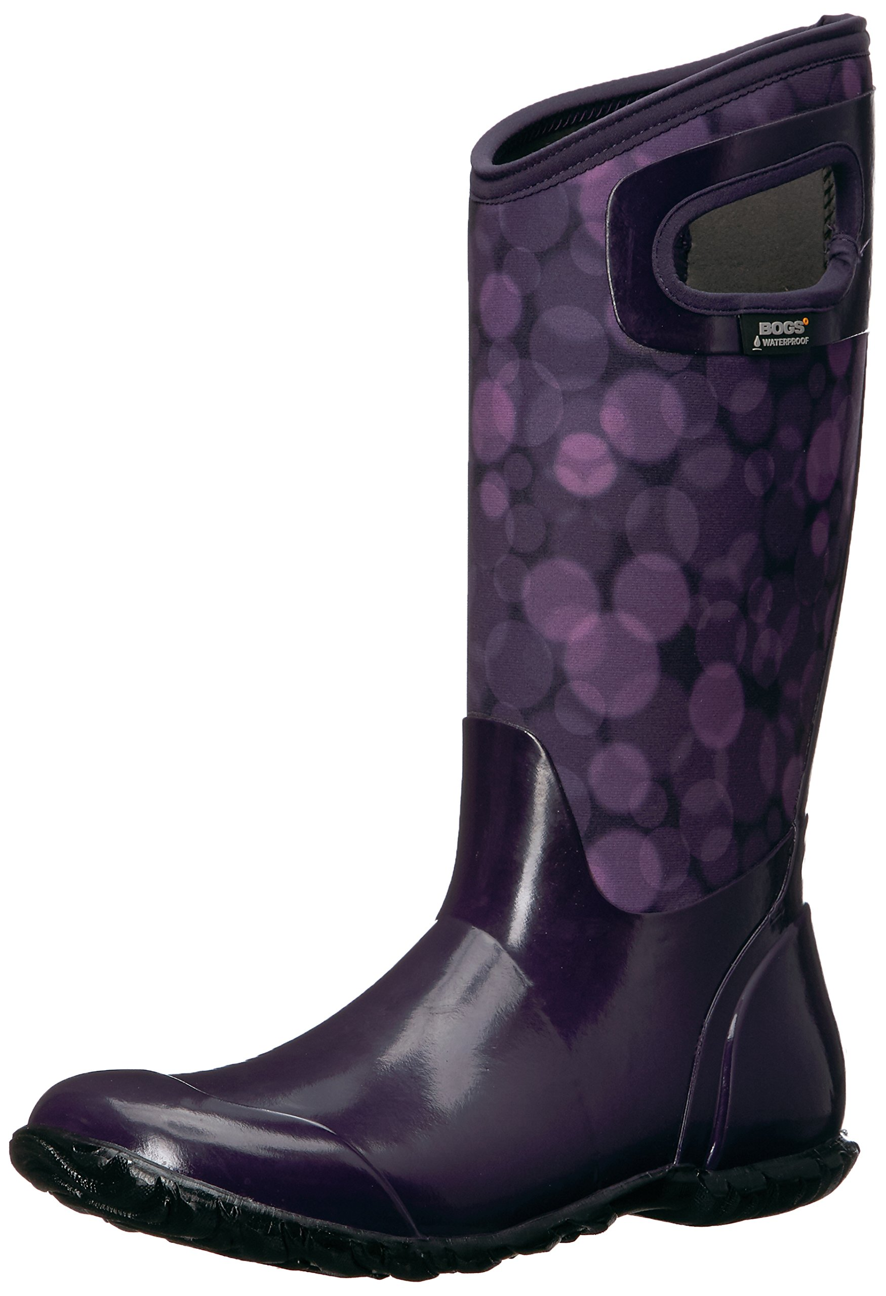 Bogs Women's North Hampton Rain Snow Boot, Eggplant Multi, 6 M US