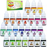 24 Color Food Coloring - Concentrated Liquid Cake Food Coloring Set for Baking, Decorating, Icing and Cooking - Rainbow…