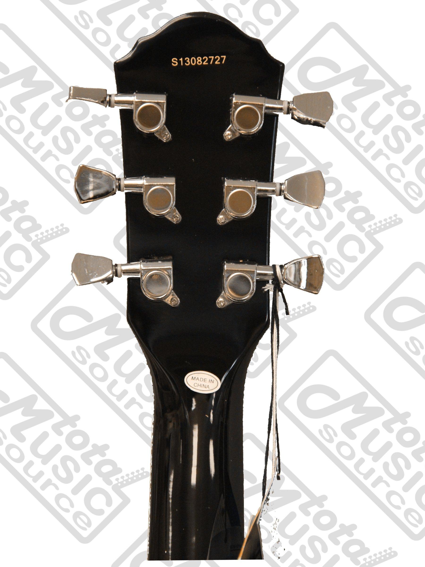 Oscar Schmidt Delta King Electric Guitar, Black, OE30B CP STRAP PICKS GIGBAG by Oscar Schmidt (Image #6)