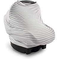 Toldo multiusos para asiento de coche Yoga Sprout, Gris (Gray Stripes), Una talla