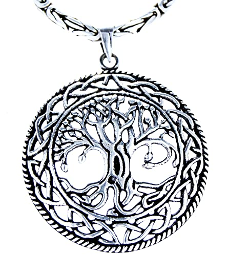 e6a1573257e530 Vita Ciondolo in argento Sterling 925 albero con tronco di Re collana in  argento Sterling 925, 2,5 mm dick, 45-60 cm lungo, Argento, cod.