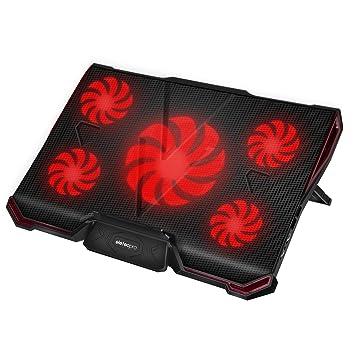 """eletecpro para ordenador portátil externo ventiladores de refrigeración pad para 12 """"-17 Laptops"""