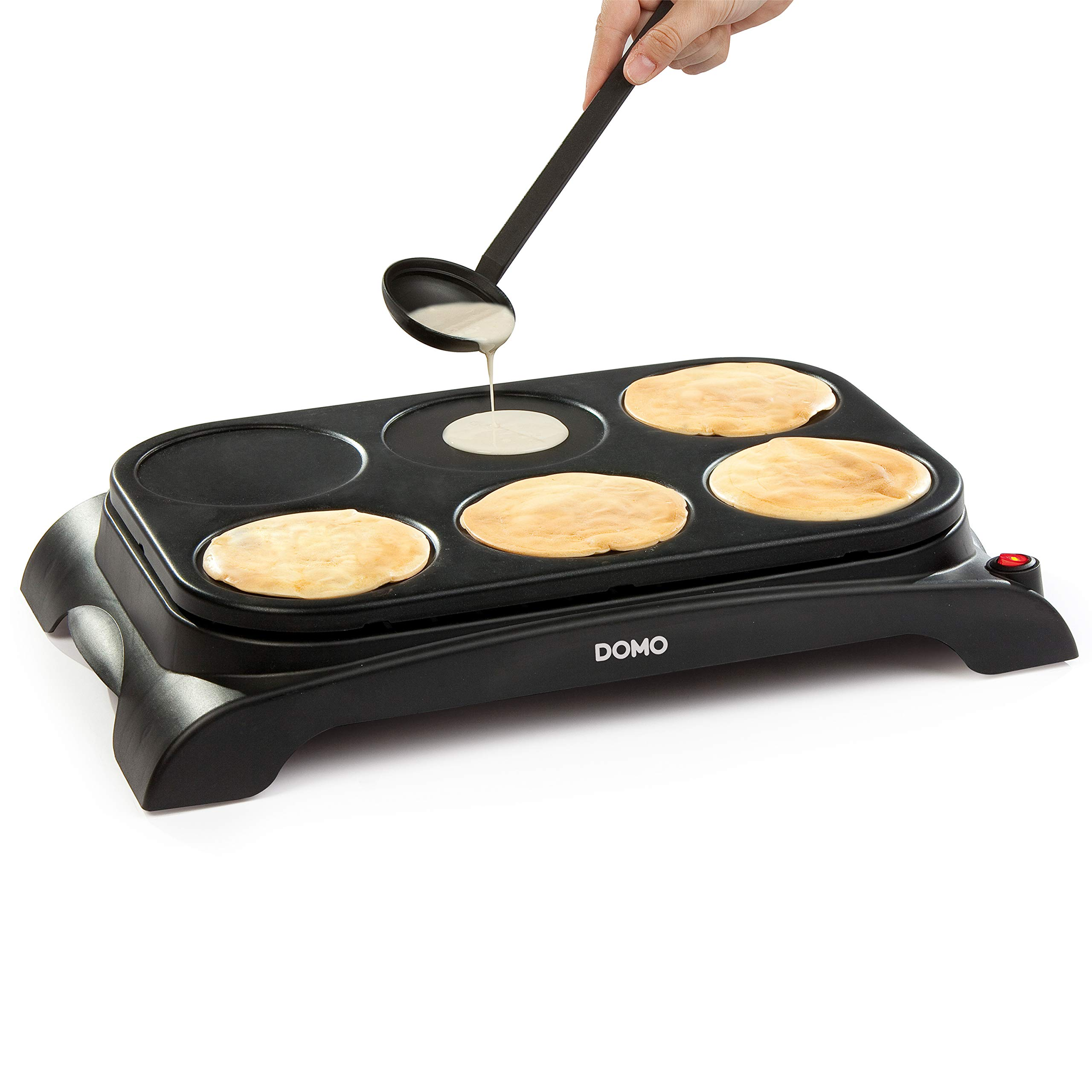 Domo DO8709P Pancake/Crepe Maker, Plastic, 1000 W, Black