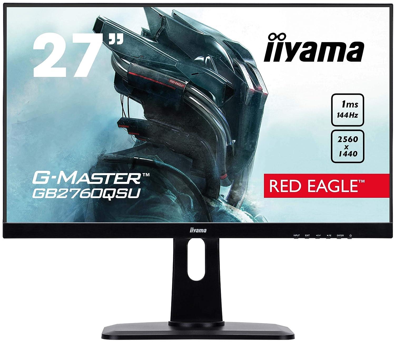 iiyama 27 Zoll, 144hz, höhenverstellbarer Gaming monitor mit WQHD